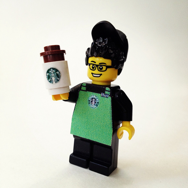 Starbucks Lego Guy