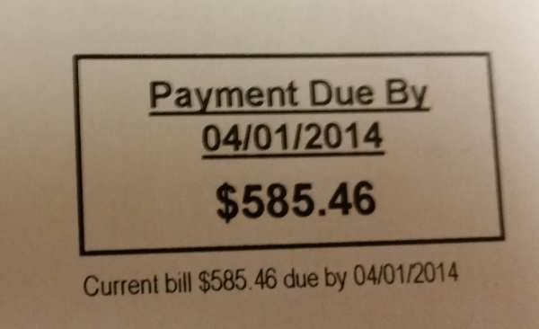 Gas Bill from Heck